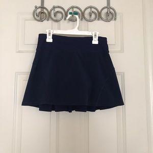 Navy lululemon pace setter skirt